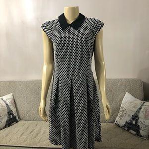 NWT Ann Taylor dress black&white size 12